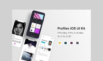 Profiles iOS UI Kit by buydesign