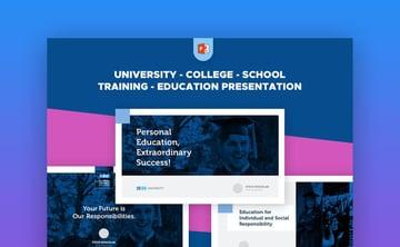 University School Graduation Premium PowerPoint Template