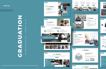 graduation powerpoint template on Envato Elements