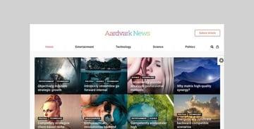 Aardvark membership theme