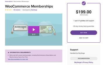 WooCommerce Membership plugin