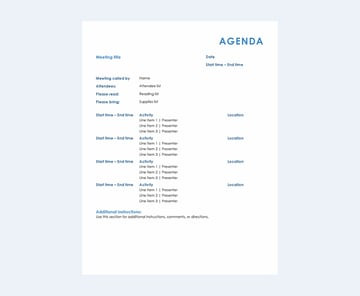 All Day meeting agenda Word