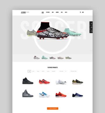 Extreme Sports Clothing WordPress Theme