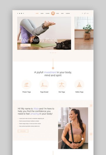 Hatha Yoga WordPress theme