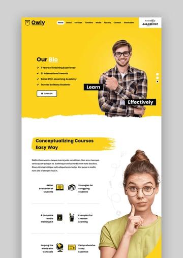 Owly Tutoring and eLearning WordPress theme
