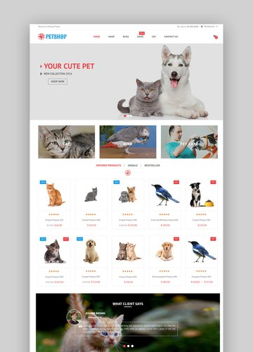 VG Petshop creative wordpress theme