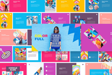 Colorful Google Slides template on Envato Elements