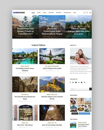 Surround - Vlog & Blog WordPress Theme