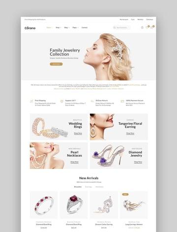 Corano - Jewellery Theme for WooCommerce WordPress
