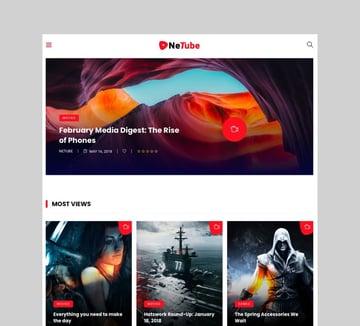 NeTube - WordPress Theme to Go Viral