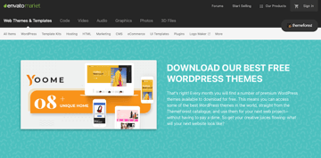 Free WordPress Themes on ThemeForest