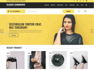 Classic eCommerce - Free WordPress Theme for Online Stores