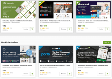 premium eCommerce WordPress themes on ThemeForest
