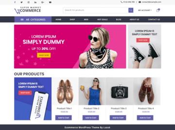 Supermarket eCommerce - Free WordPress Theme