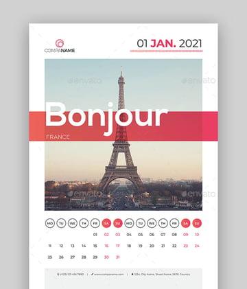 Calendar 2021