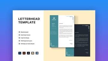 Elegant Word Letterhead template