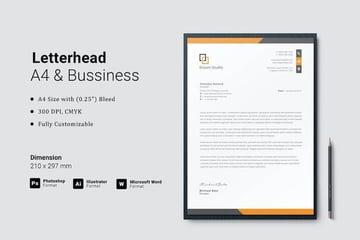 Modern Letterhead template on Envato Elements