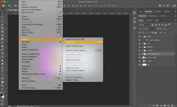 Exporting the template design
