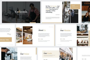 Coffee Shop Template With Elegant Typography