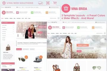 Vina Erida Multipurpose Joomla Blog Template
