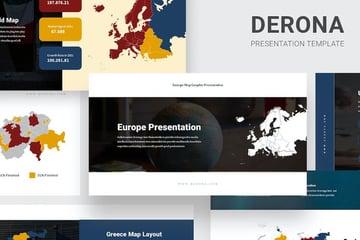Derona Google Slides Maps template