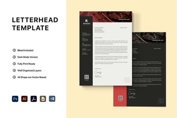 Word Letterhead Template example on Envato Elements