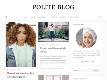 Polite Blog WordPress theme