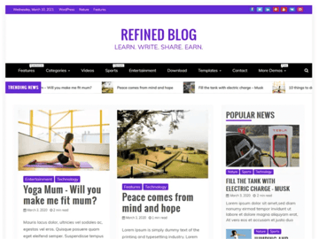 Redefine Blog WordPress theme