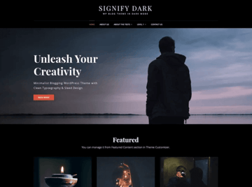 Signify Dark WordPress theme