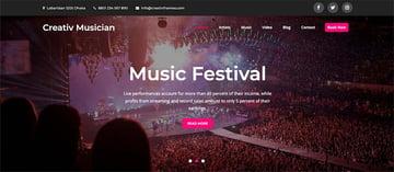 Creativ Musician WordPress Theme