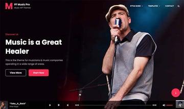 MusicFocus WordPress Theme