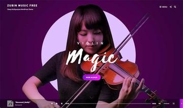 Zubin Music WordPress Theme