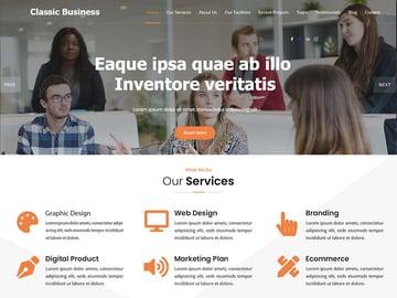 Classic Business WordPress Theme