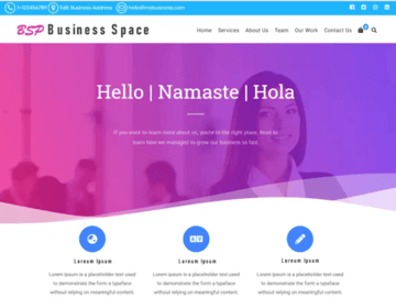 Business Space WordPress Theme