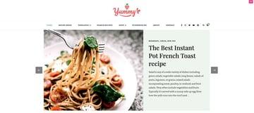 Yummy Recipe - Free WordPress Theme