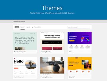 Free WordPress Themes on WordPress.org