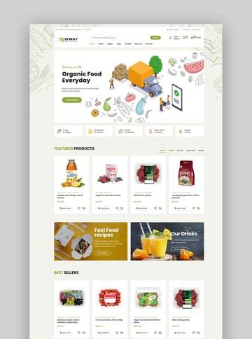 Efway Food Store WordPress Theme