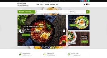 FoodShop Free Grocery WordPress Theme