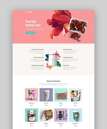 Superfood Organic Food Products Theme