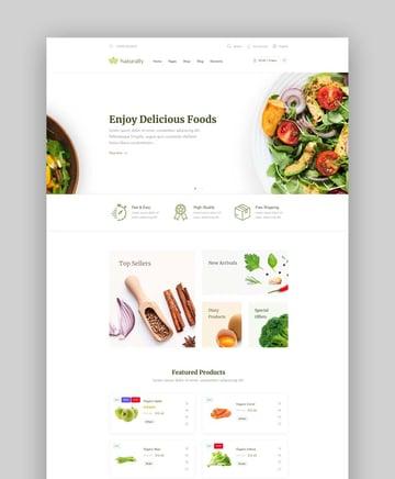 Naturally Organic Food WordPress Theme