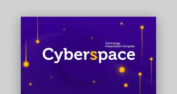 Cyberspace Technology PPT template