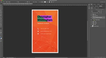 Customizing the design of your business card template