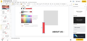 Customizing colors in your presentation