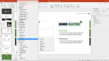 Customizing fonts in a presentation