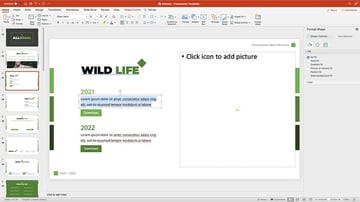 Replacing content in an animal presentation