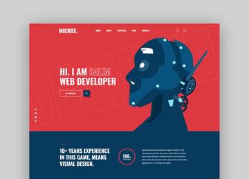 Microx - CV Resume and Portfolio template