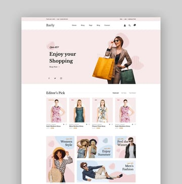 Barly - Fashion eCommerce Bootstrap 5 Template