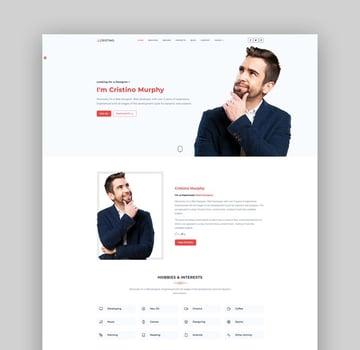 Cristino - Bootstrap 5 Personal Portfolio & Resume Template