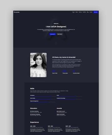 Personite - Bootstrap Portfolio Template