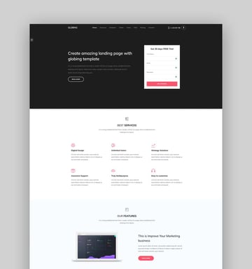 Globing - Bootstrap 5 Landing Page Template